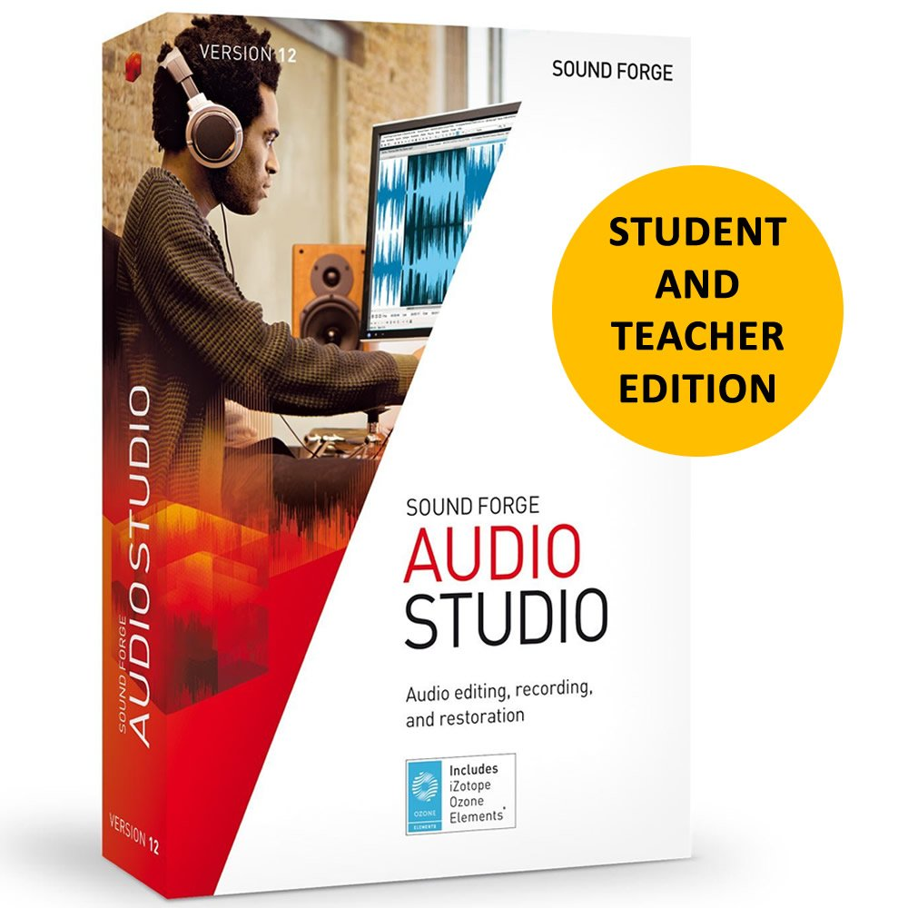 Magix Sound Forge Audio Studio 12 for Students & Teachers by Genesis MGX
