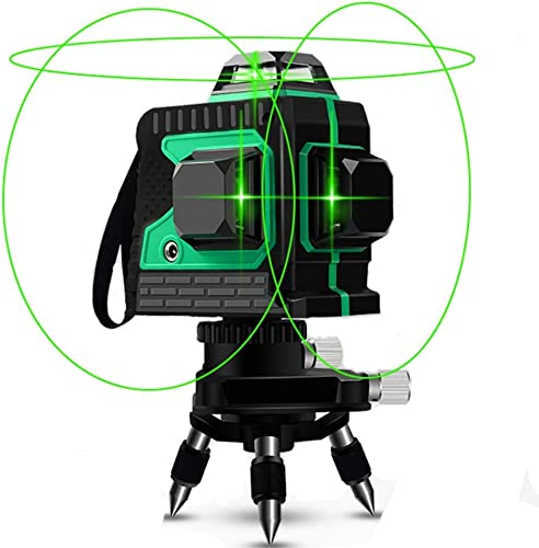 Laser Level, Atralife 12 Lines With Automatic Horizontal Line 360 Horizontal And Vertical Cross Line Green Laser Beam Line IP54 Waterproof Horizontal And Alignment Line-less Than 5nw