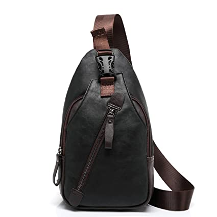 Image Unavailable. Image not available for. Color  StyleZ Sling Pack Chest  Bag Men s Shoulder Backpack PU Bag Outdoor Cross Body Bags ... 9bd9be373c250