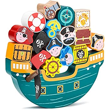 Blockbeard's Balance Boat Balancing Game (18 pieces) by Imagination Generation