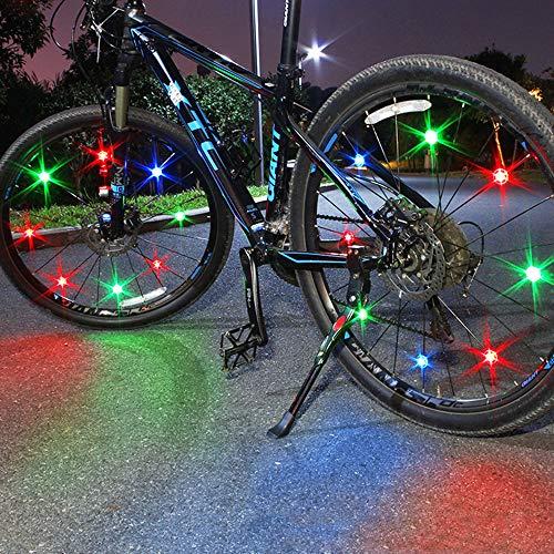 [해외]Wangten 자전거 타이어 용 라이트 휠 라이트 자전거 스포크 빛 자전거 휠 LED 라이트 안전 경고 라이트 밤길 안전 간단 설치 / light wheel light bicycle spoke light bicycle wheel LED light safety warning light night road safety easy instal...