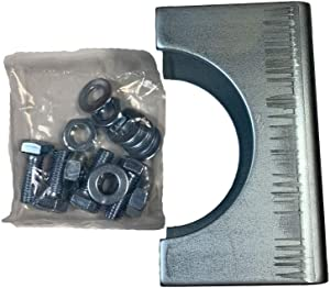 Ghost Controls AX3R Round Post Adapter Brackets to Adapt to 3 inch Round Steel Posts for Automatic Gate Opener Systems
