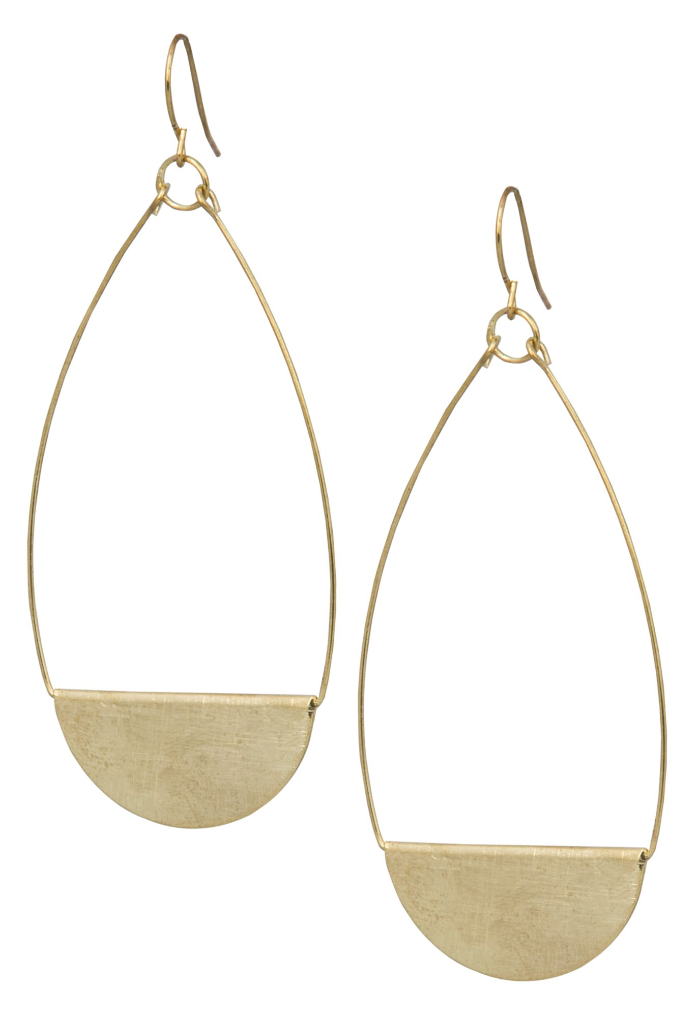 Shield Earring (Large Gold)