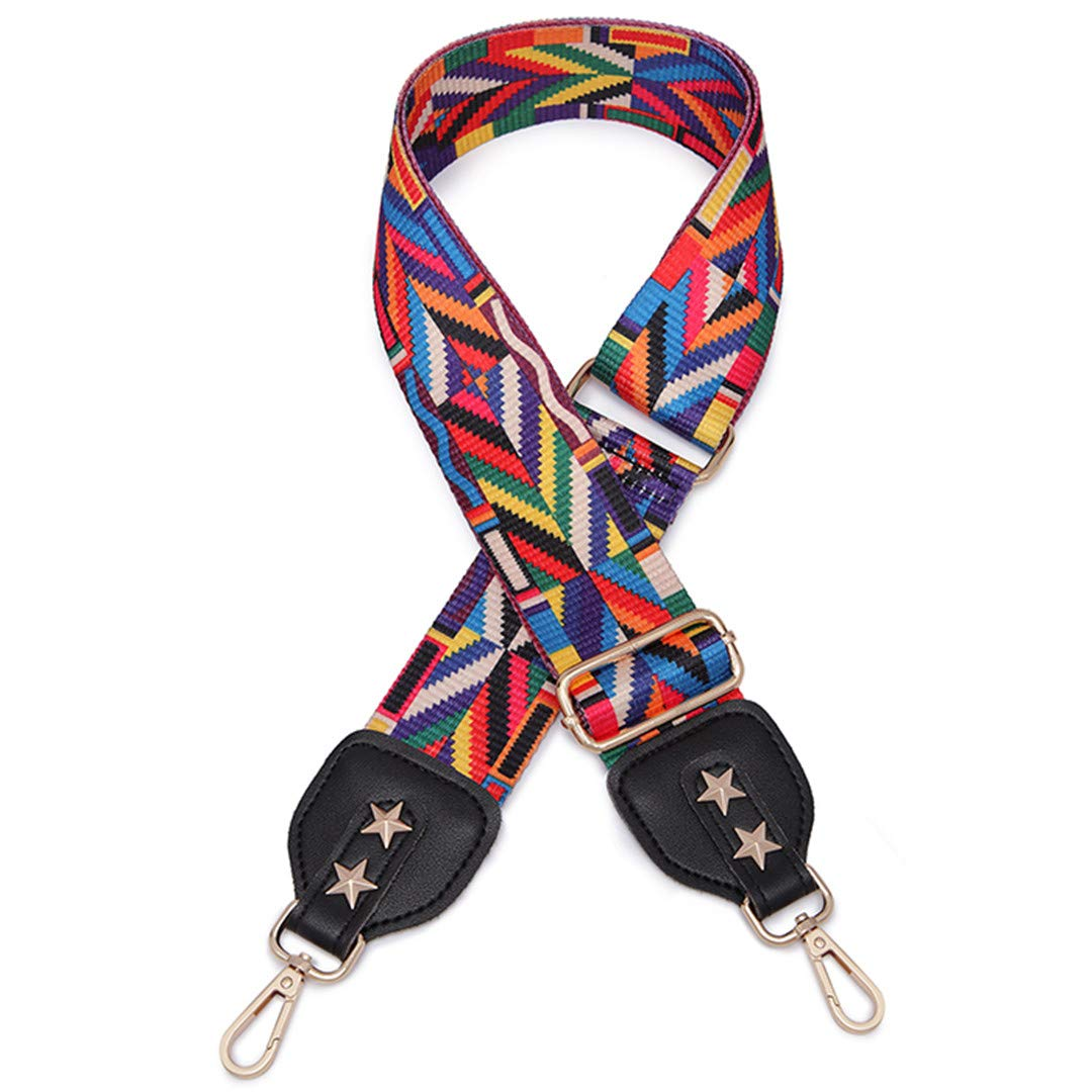 Widen Colorful Strap Rainbow Belt Bags For Accessories Adjustable Shoulder Bag Strap Hanger Handbag Strap Ribbon Replacement Black Leather1