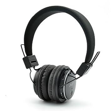 GranVela Q8 ligero plegable inalámbrico Bluetooth auriculares de diadema con micrófono Reproductor de, tarjeta Micro SD, radio FM y 3.5 mm Cable desmontable ...