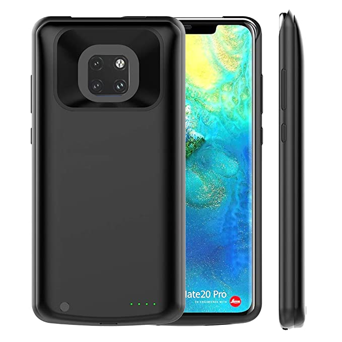 Huawei Mate 20 Pro 6000mAh Battery Case, FugouSell Rechargeable Extended Battery Backup Charger Case Portable Power Bank Juice Full Protection for ...