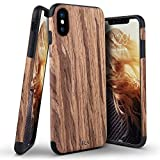 """iPhone X Case, BELK [Air To Beat] Slim Soft Wood Bumper, Scratch Resistant Non Slip Grip Lightweight TPU Snap Back Cover with Rubber Corner Cushion for Apple iPhone X 5.8"""" - Cherry"""
