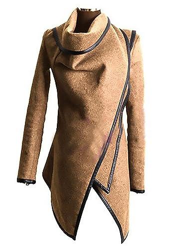 Mujer Abrigos Rompevientos Coat Outcoat Color Sólido Elegante De Originales Marca Moda Casual Mujere...