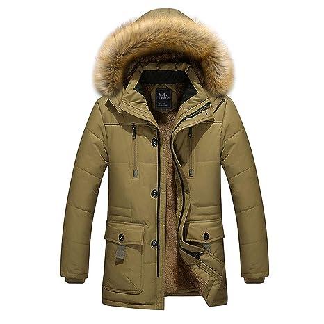SRL Abrigo de algodón con Capucha de algodón con Capucha de Invierno de Mediana Edad Engrosado