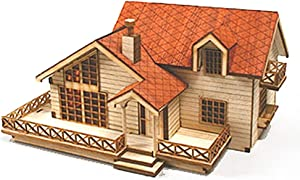 Desktop Wooden Model Kit Garden House B With a Large Loft by Young Modeler