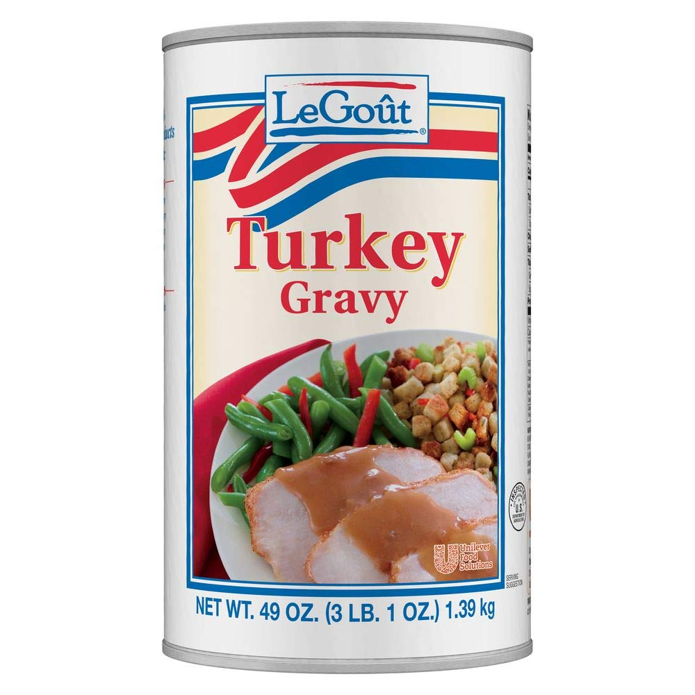 LeGout Turkey Gravy Easy Preparation: Heat and Serve, 49 oz, Pack of 12