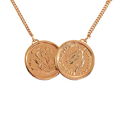 7bfd842fca4b3 Holly Willoughby Premium 2 Coin Necklace - 22ct Rose Gold Plate ...