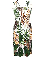 RJC Women's Rainforest Palms Hawaiian Smocked Sundress
