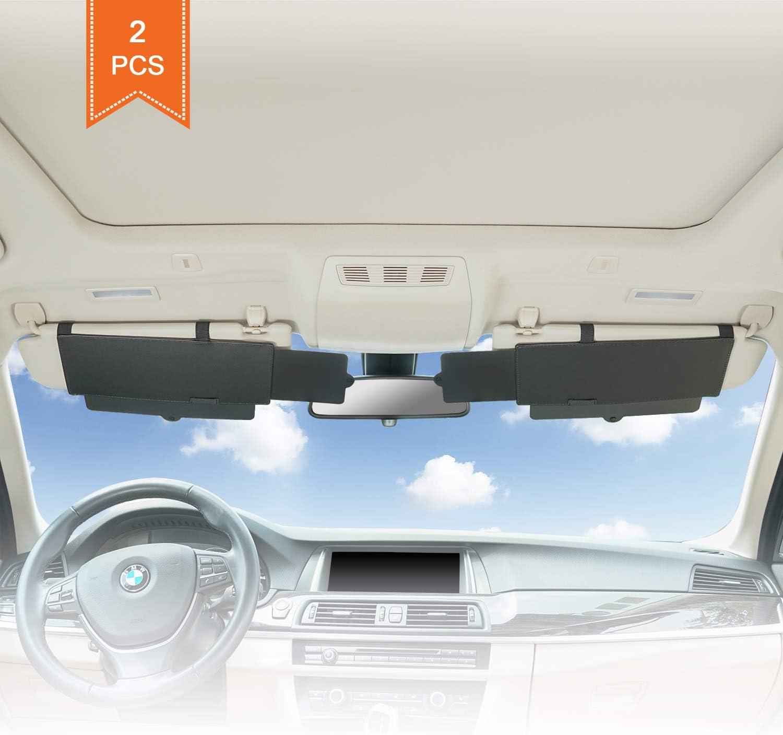 TFY Car Visor Sunshade Extender Anti-Glare Sun Visor Extender Window Sunshade and UV Rays Blocker 1 Piece
