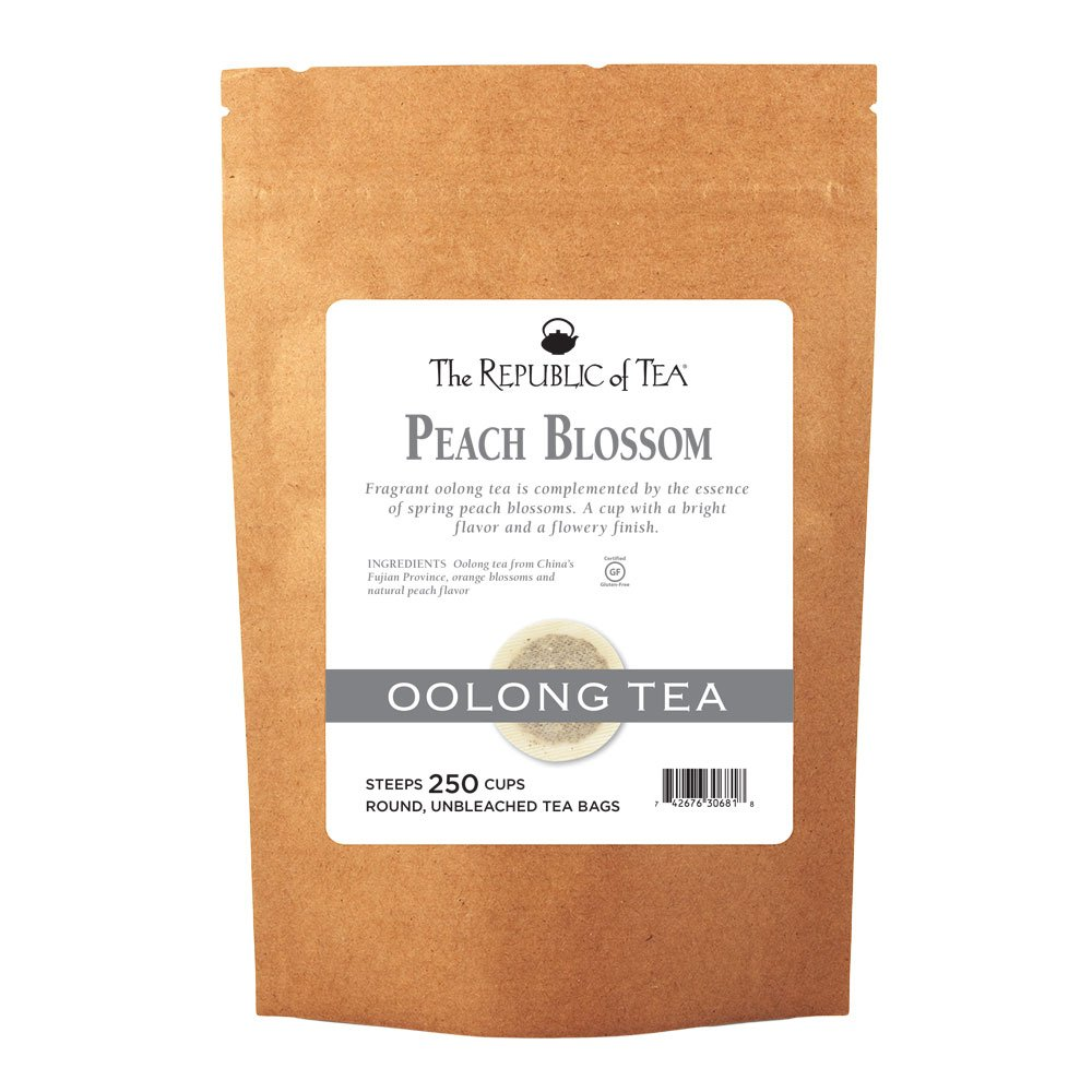 The Republic of Tea Peach Blossom Oolong Black Tea, 250 Tea Bags, Gourmet Spring Tea Blend by The Republic of Tea