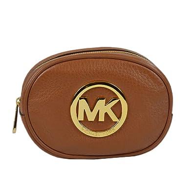 0cdfc1d453de Amazon.com  MICHAEL Michael Kors Fulton Leather Cosmetic Case Travel ...
