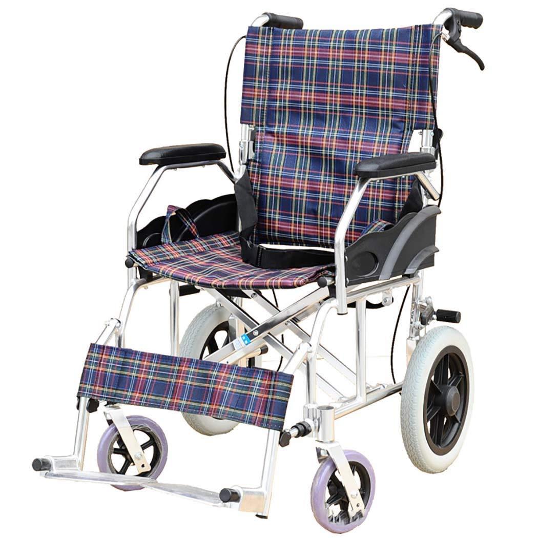 お歳暮 HSBAIS 大人のための軽量折りたたみ車いす簡単な移動のためのワイドシート B07LF7JWX7 Seat、アルミニウム合金ドライブメディカル,18