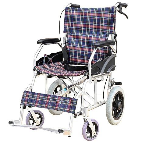 DPPAN Transporte Silla de ruedas Plegable ligero para adultos Asiento ancho, aleación de aluminio Drive
