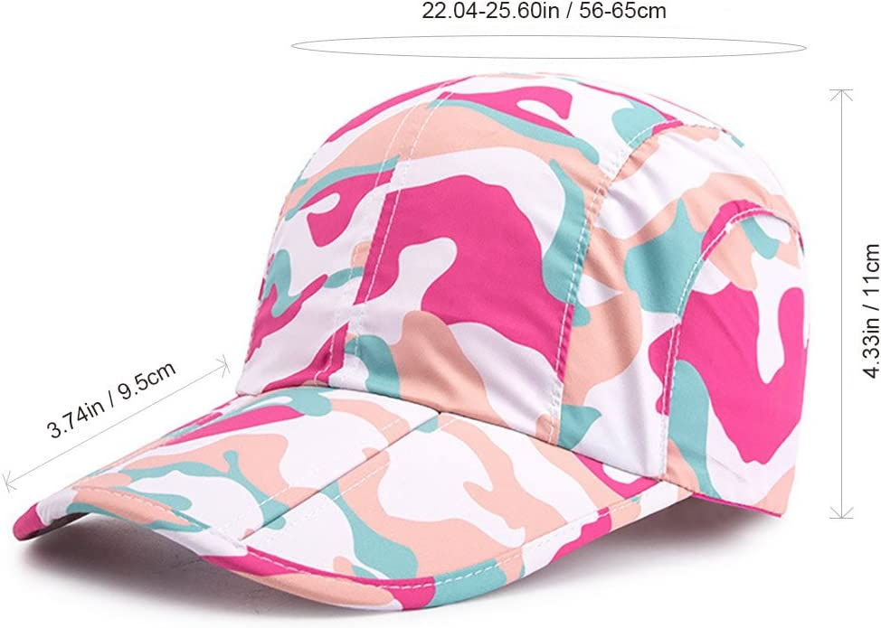 iBasingo Baseball Cap Lightweight Cap Quick Dry Breathable Sports Cap Soft Brim Peaked Cap Foldable Running Cap Men Women Camouflage Headgear UV-Protection Sun Hat BVH16