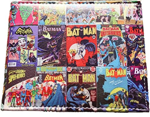 DC Comics (Batman) Comic Covers Bi-fold Men's/Boys Wallet with Gift - Wallet Dc