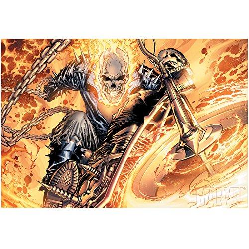 Nicolas Cage 8 Inch x10 Inch Photograph Ghost Rider: Spirit of Vengeance (2011) Comic Art kn
