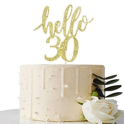 Decoración para tarta de 30 cumpleaños y 30 aniversarios ...