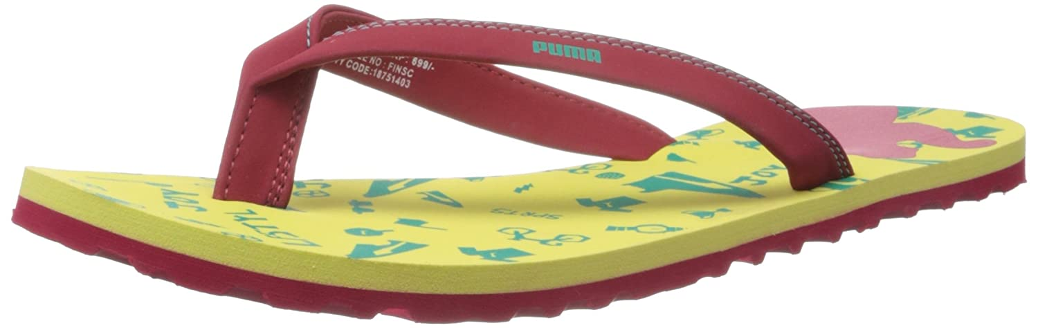 2fb3ee8006671 Puma Women s Coral XC Yellow Basic Flip-Flops Moulded - House Slippers - 7  UK India (40.5 EU)  Buy Online at Low Prices in India - Amazon.in