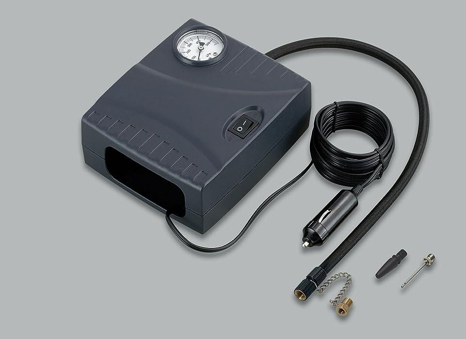 判定かんがい問い合わせるコンパクト エアーコンプレッサー DC12V 毎分70L タイヤの空気入れに最適