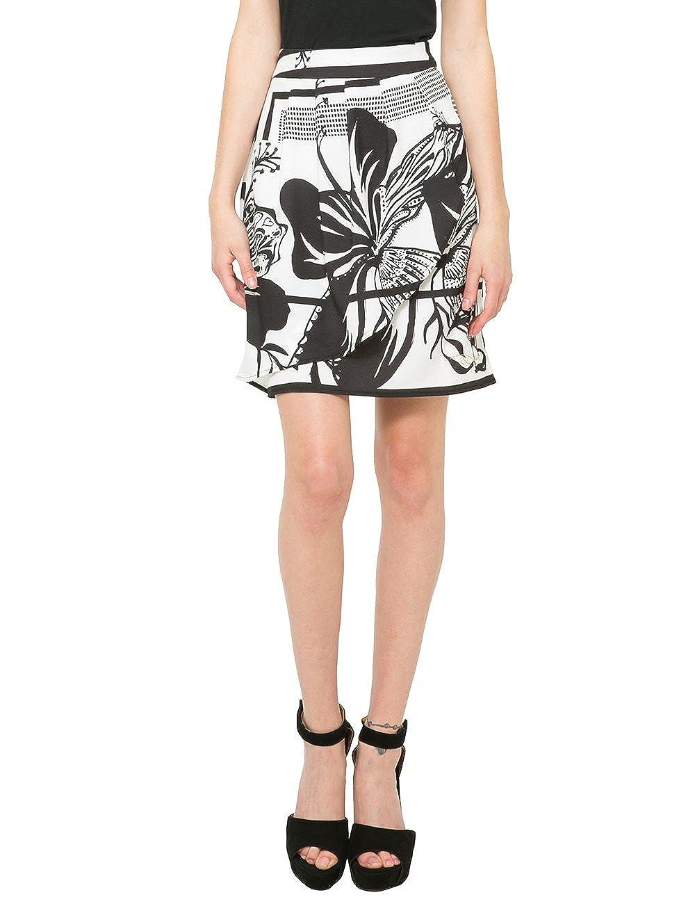Desigual Fal_Mini, Falda para Mujer, Blanco (Tiza) 38: Amazon.es ...