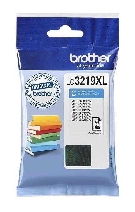 Brother LC3219XLC Cartucho de tinta cian original de larga duración para las impresoras MFCJ5330DW, MFCJ5730DW, MFCJ5930DW, MFCJ6530DW, MFCJ6930DW y ...