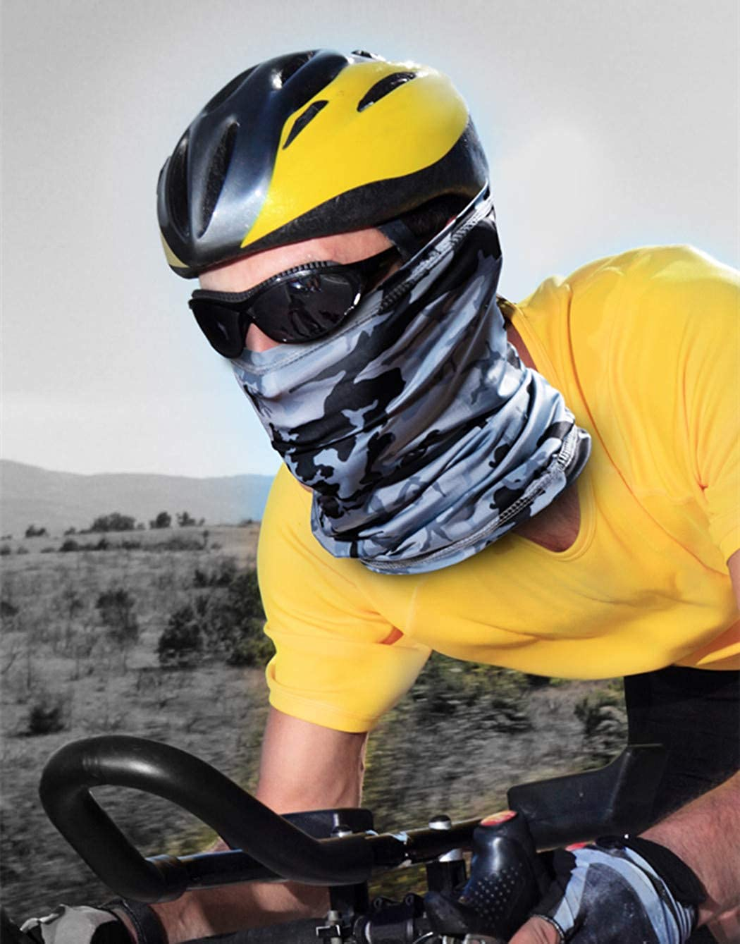 N-A Summer Bandana Face Mask Protection Neck Gaiter Face Mask Anti Dust Wind UV Face Cover Women Men Balaclava Face Mask for Cycling Running Hiking Sports 5pcs