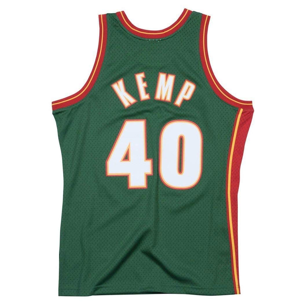 Mitchell & Ness Swingman NBA Jersey - Seattle Supersonics - Kemp - 95-96: Amazon.es: Deportes y aire libre