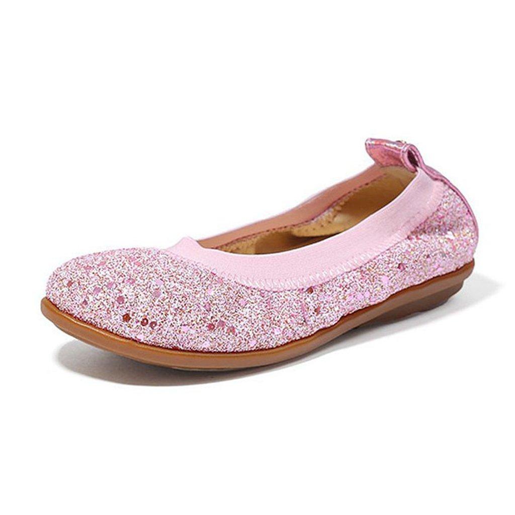 Baby Girls Dress Ballet Glitter Comfortable Soft Rubber Slip On Princess Shoes(Toddler/Little Kid)