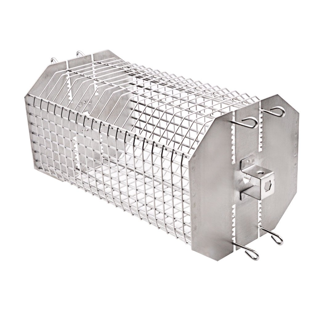 only fire Universal Octagonal Tumble & Flat Basket Rotisserie Grill Spit Rod Basket Fits for Any Grill by only fire