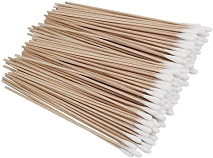 100 bastones de algodón de 15 cm para limpieza de bastones de algodón para limpieza de oídos, tratamiento de heridas, maquillaje, cosméticos, aplicadores: Amazon.es: Belleza