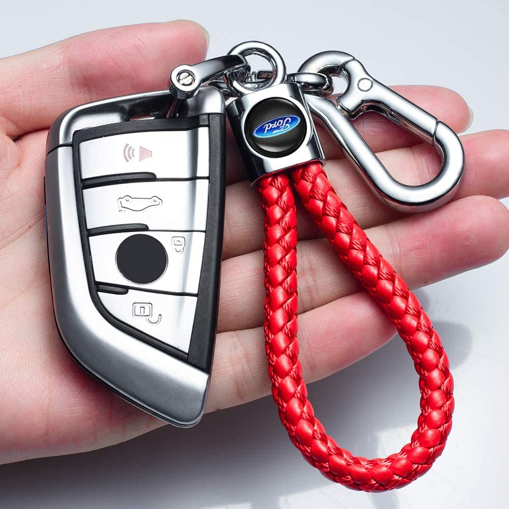 Goshion 2Pack Car Logo Keychain Suit for Ford Fusion F250 F350 F450 F550 Edge Explorer F150 Key Chain Key Ring Family Present for Man and Woman