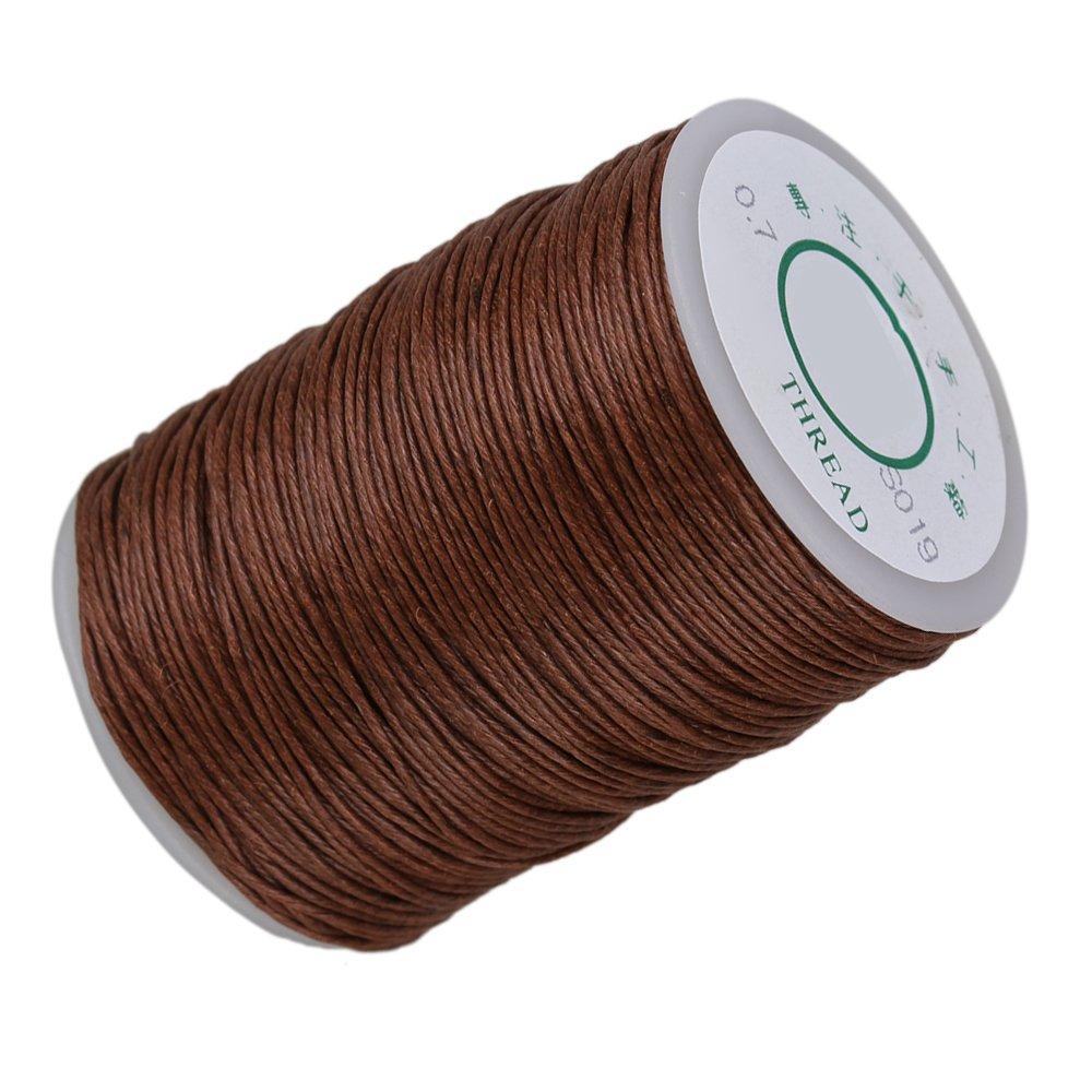 cnbtr 0, 7mm 100m Cáñamo Natural redonda de hilo encerado fuerte Handwork cera de costura Craft de piel con (marrón) yqltd BCACS10933