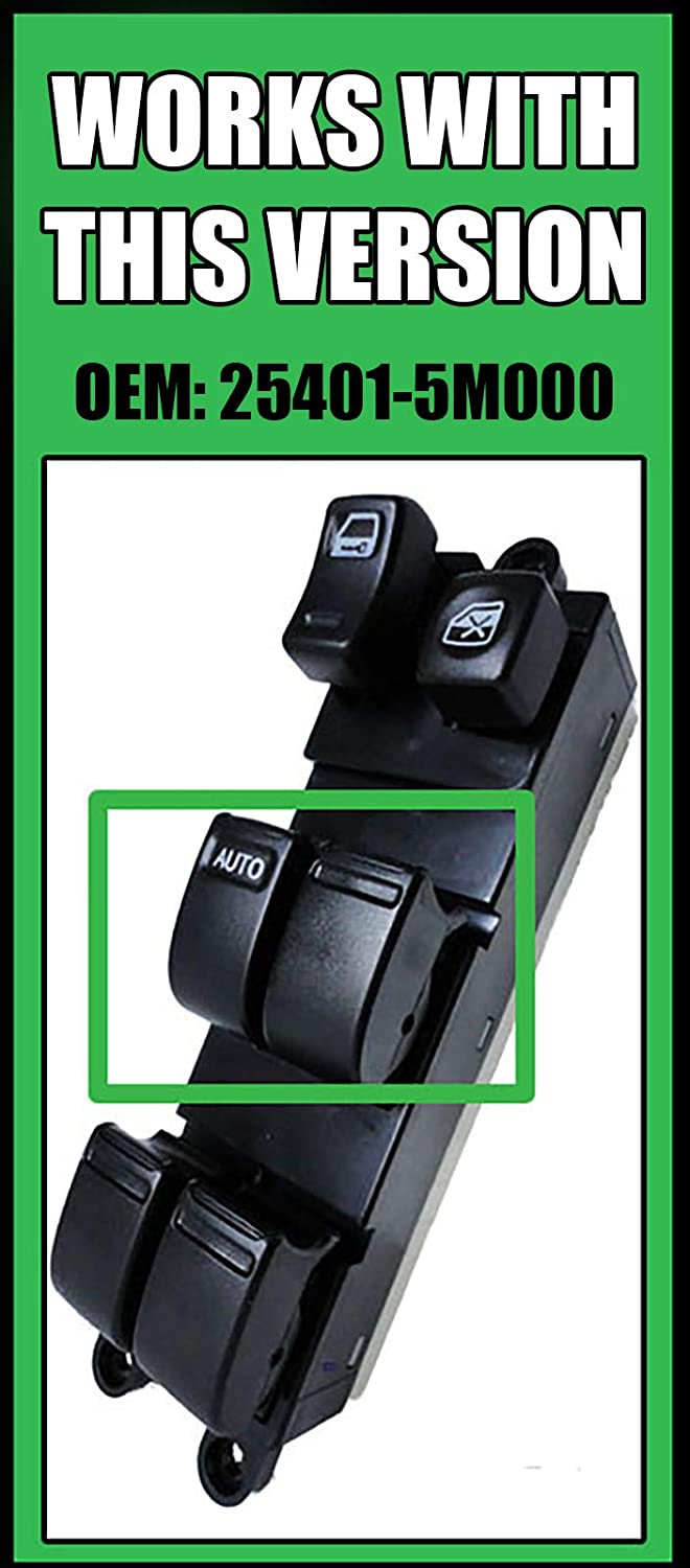 SWITCHDOCTOR Window Master Switch for Nissan Sentra 2000-2006 Window Master Control Switch