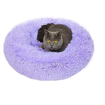 Lamzoom Deluxe Cama para Mascotas, Gatos, Perros pequeños, medianos, Cachorros con cojín