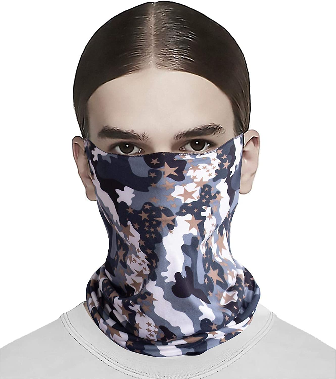 3 Pieces Summer Face Mask Sun UV Protection Neck Gaiter Scarf Windproof Breathab