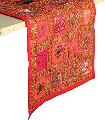 Tessili Per La Casa 183x30cm Runner Decorativo Rajrang Bringing Rajasthan To You Runner Da Tavolo Patchwork Per Casa E Cucina Fatto A Mano Colore Rosso Boho Etnico Etnico E Runner Da Tavolo