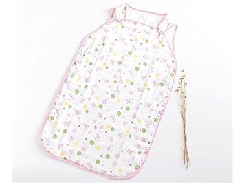 QWhing Suave y Acogedor Bolsa de Dormir Anti-Patada del Verano del bebé recién Nacido Sección Delgada Sleepsacks Adecuado para 0-24 Meses Saco de Dormir del ...