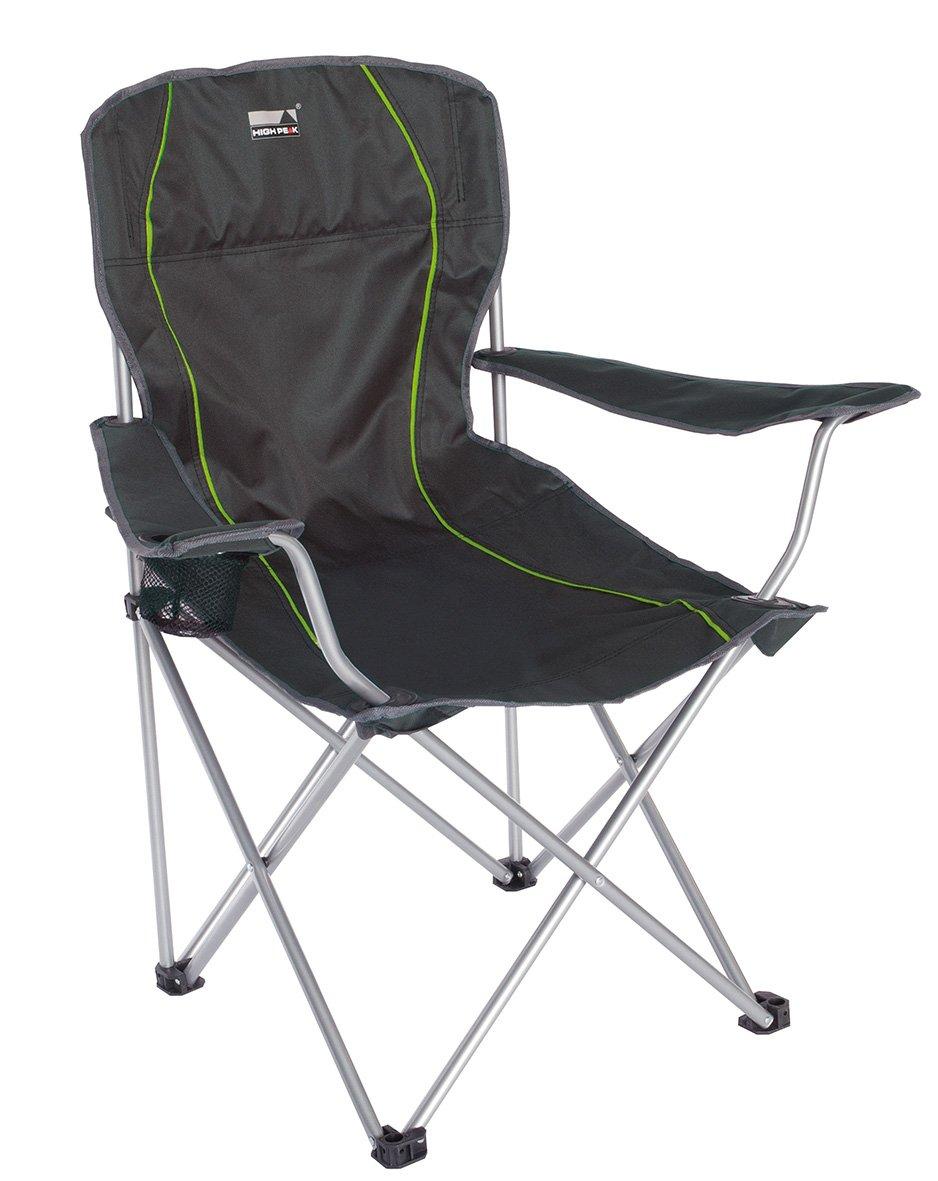 High Peak Salou Chaise de Camping Pliante Mixte Adulte, Gris
