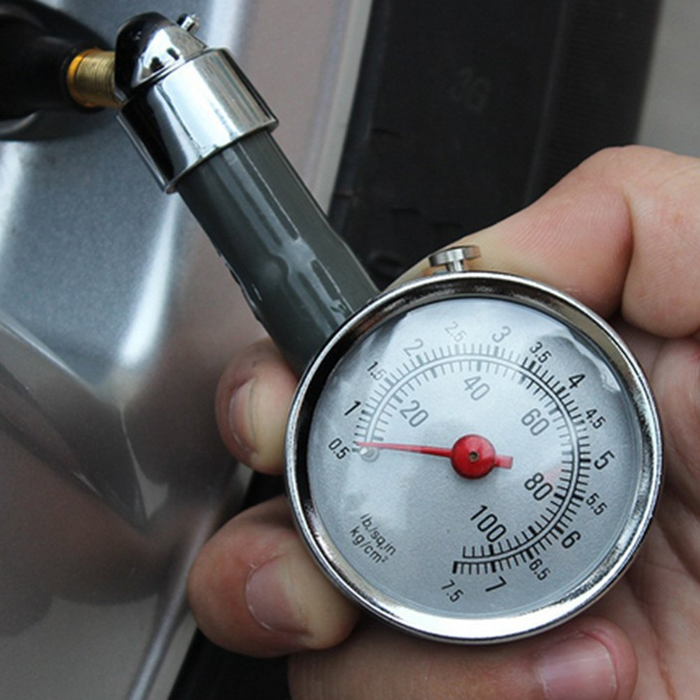 WINOMO Tire Pressure Gauge Meter Tire Pressure Pointer 0.5-7.5 PSI for Car Truck Motorcycle Bike