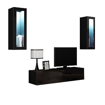 Wohnwand VIGO VIII Anbauwand Modernes Wohnzimmer Set ...