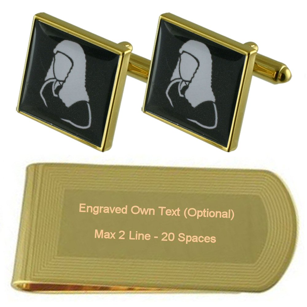Judge Barrister Gold-tone Cufflinks Money Clip Engraved Gift Set