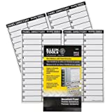 Klein Tools 56255 Wire Markers-Household Electric Panel w/Directory