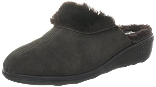 Romika Romilastic 306, Chaussons Mules Doublé Chaud Femme, ( Mocca), 35 EU