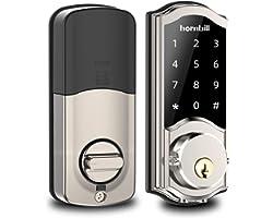 [Newest Version] Smart Deadbolt Lock Front Door, Keyless Entry Door Lock with Keypads, Bluetooth Smart Locks Work with Alexa,