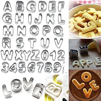 [Free Shipping] 37 Pcs Alphabet Letter Number Cake Cookie Decorating Cutter Mold Set // 37 pcs letra del alfabeto conjunto molde número torta cortador de ...